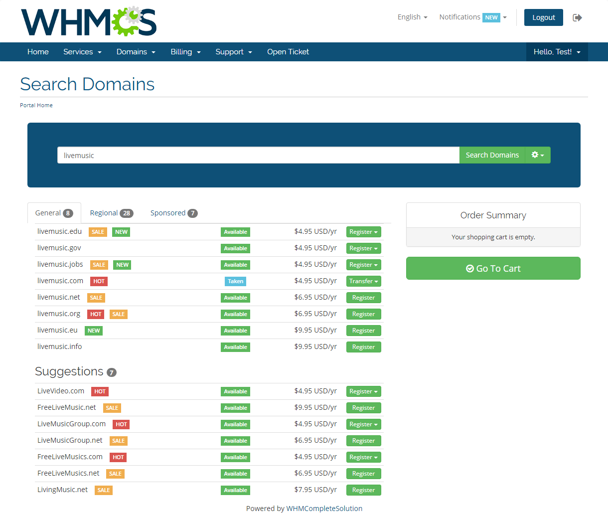 Domain Orders Extended For WHMCS: Screen 4