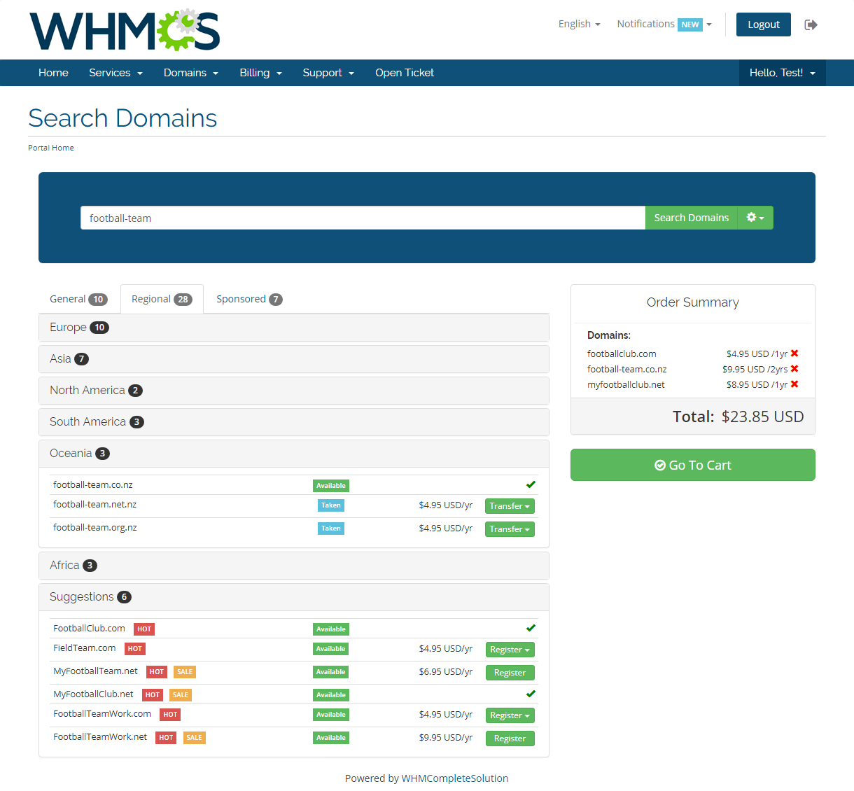 Domain Orders Extended For WHMCS: Screen 5