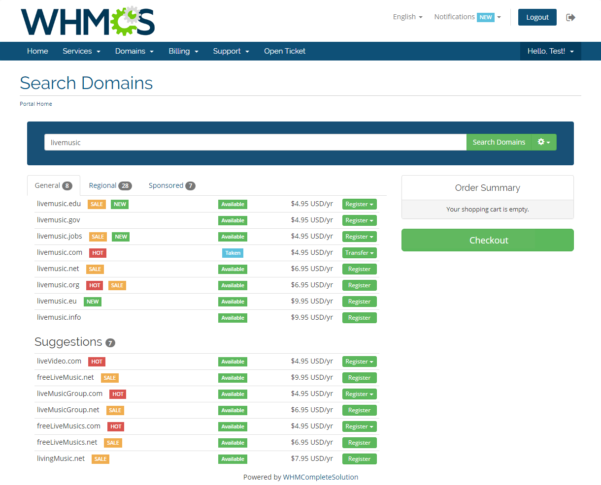 Domain Orders Extended For WHMCS: Module Screenshot 5
