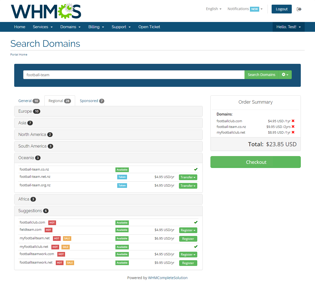 Domain Orders Extended For WHMCS: Module Screenshot 6