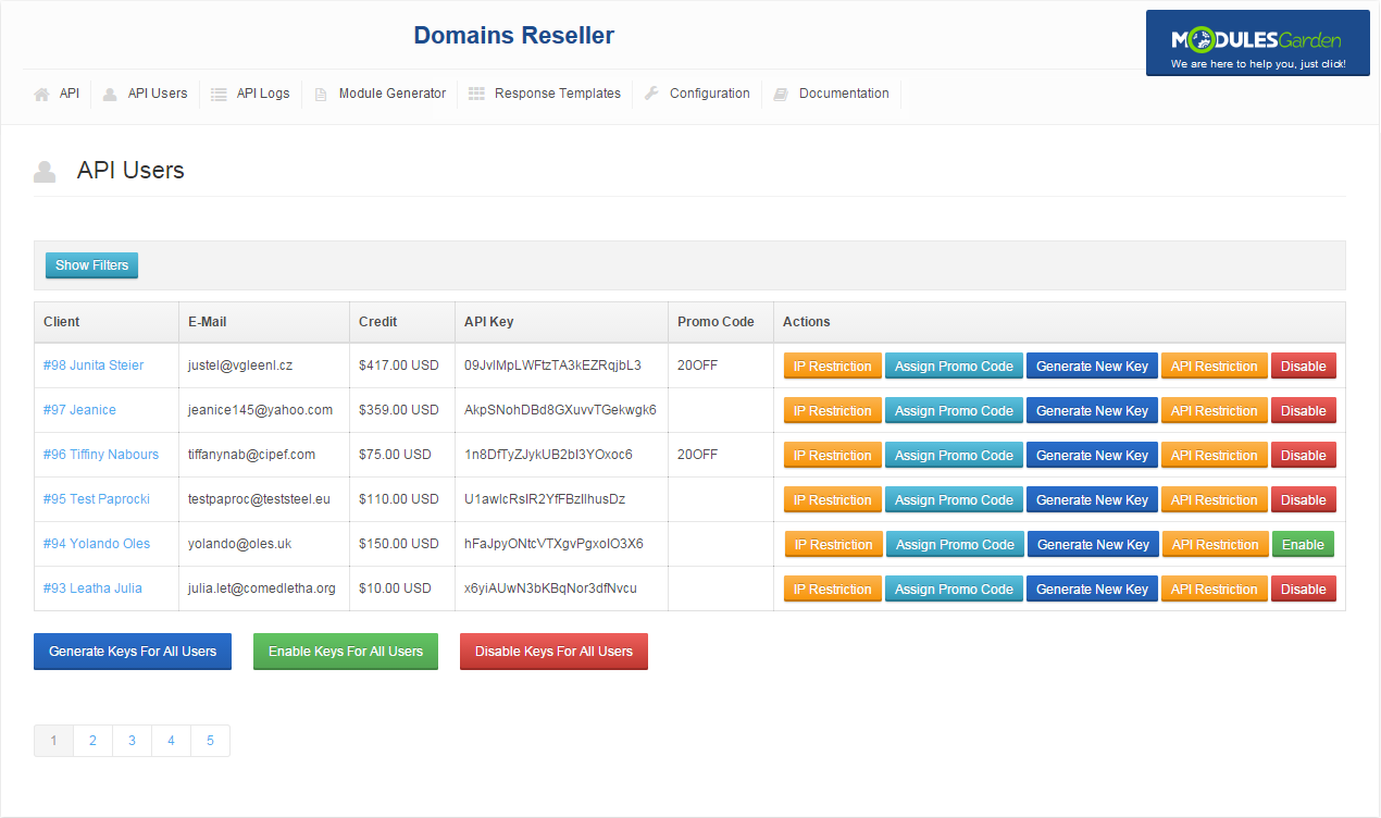 Domains Reseller For WHMCS: Screen 4