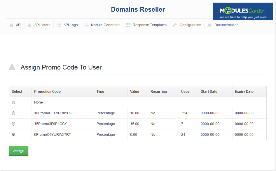 Domains Reseller For WHMCS: Screen 5