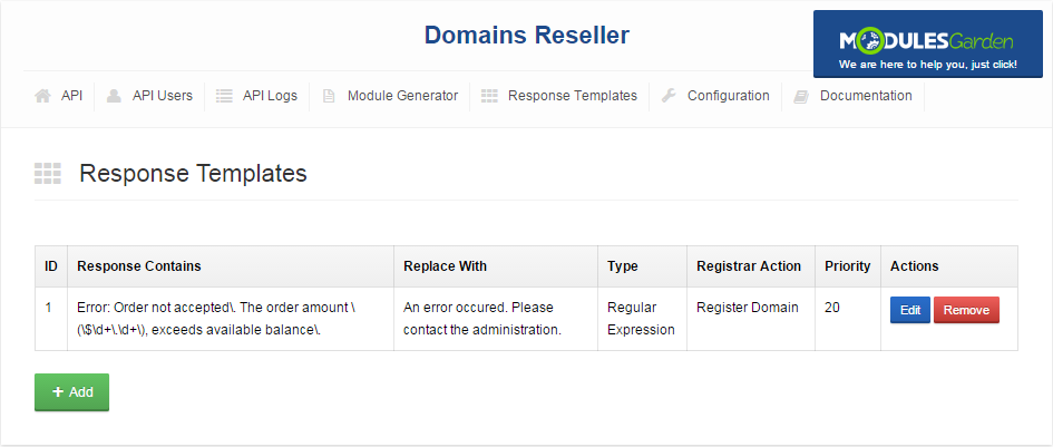 Domains Reseller For WHMCS: Screen 9