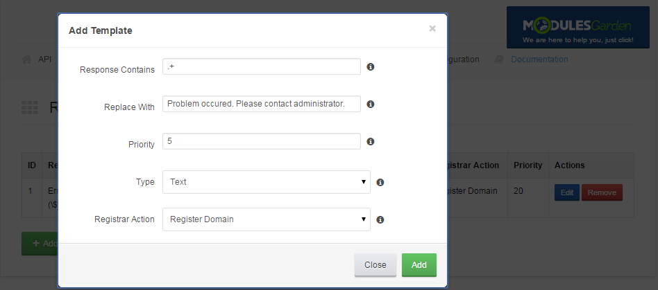 Domains Reseller For WHMCS: Screen 10