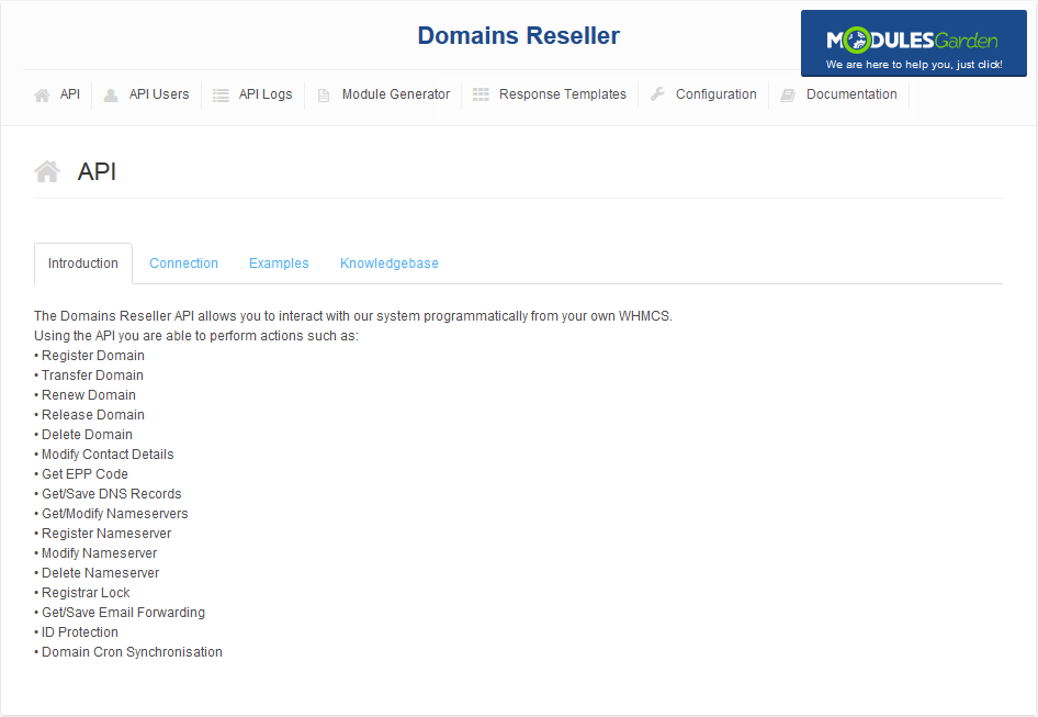 Domains Reseller For WHMCS: Screen 11