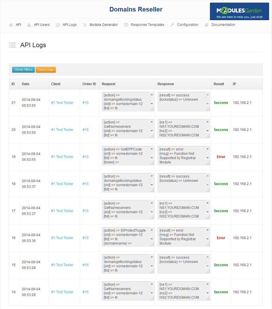 Domains Reseller For WHMCS: Screen 6