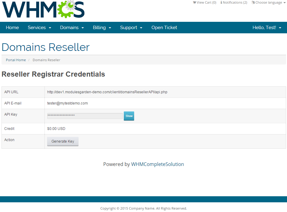 Domains Reseller For WHMCS: Screen 8