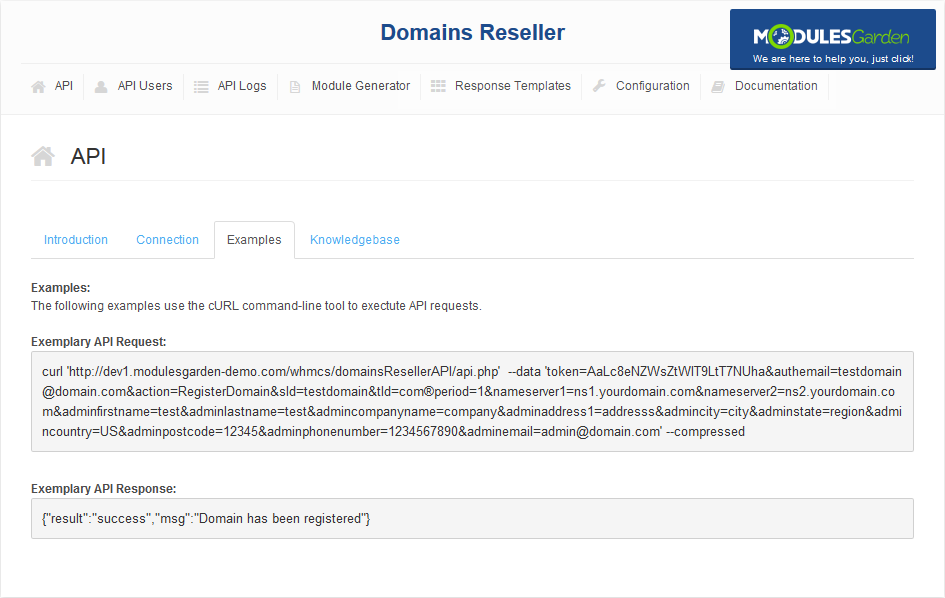 Domains Reseller For WHMCS: Screen 13