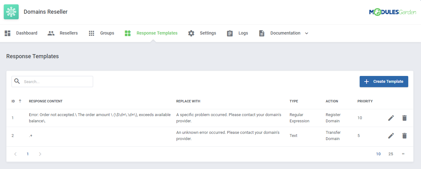 Domains Reseller For WHMCS: Module Screenshot 13
