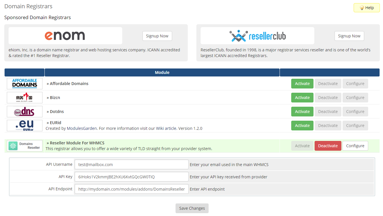 Domains Reseller For WHMCS: Module Screenshot 23