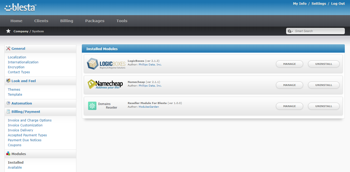 Domains Reseller For WHMCS: Module Screenshot 24