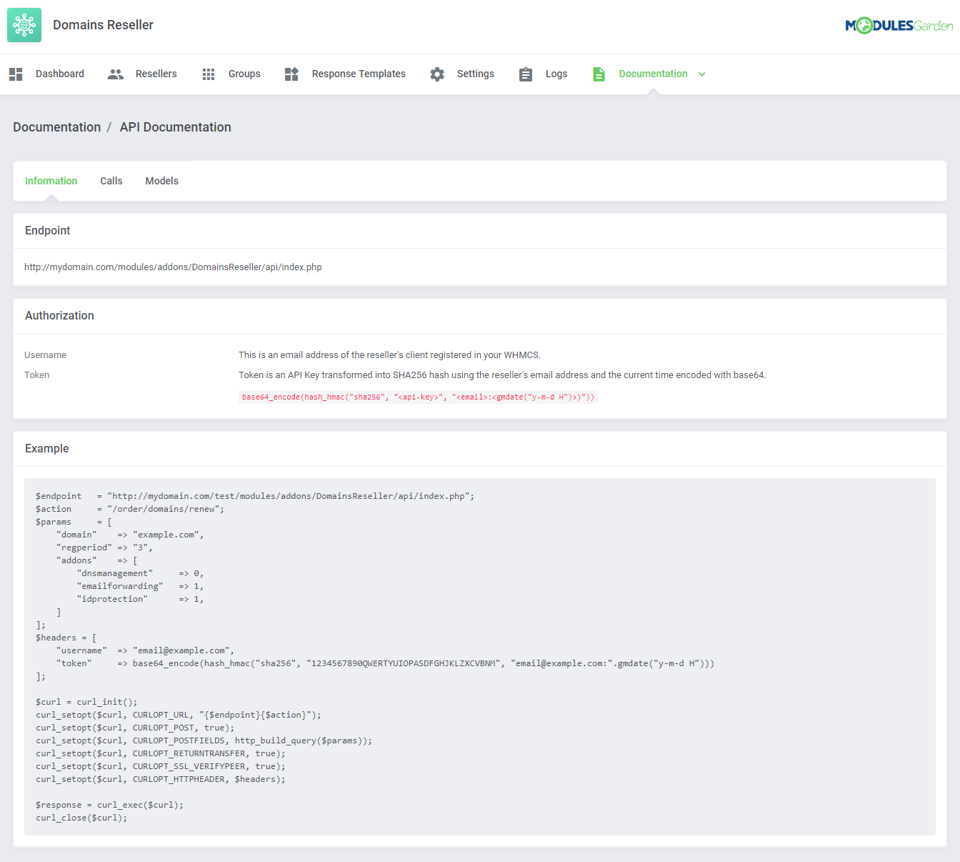 Domains Reseller For WHMCS: Module Screenshot 16