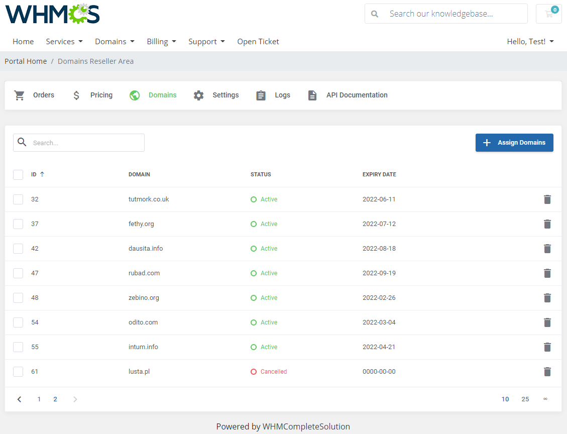 Domains Reseller For WHMCS: Module Screenshot 21