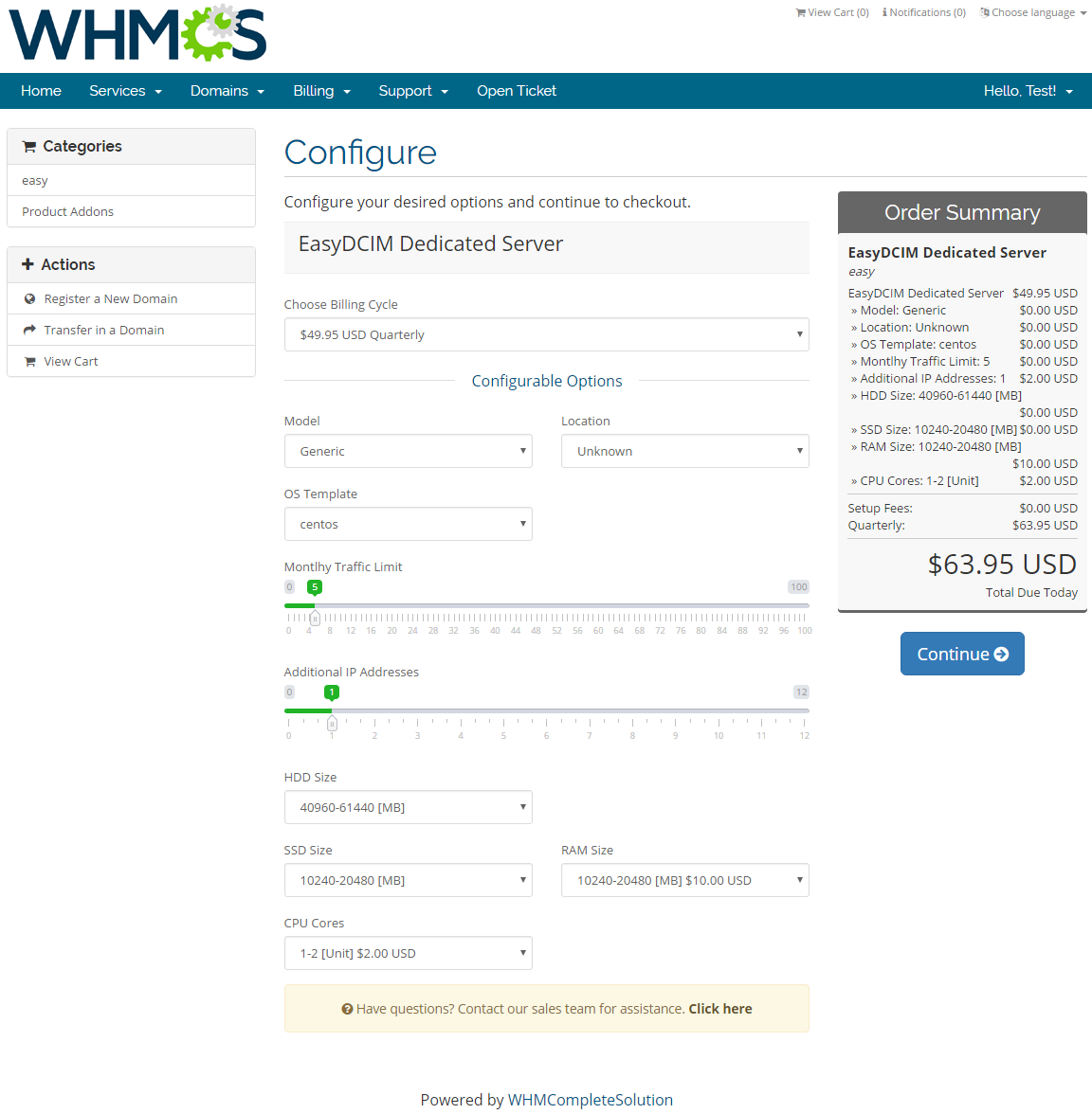 EasyDCIM Dedicated Servers For WHMCS: Screen 7