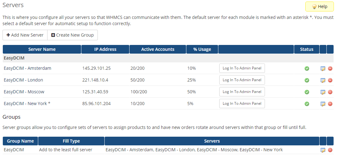 EasyDCIM Dedicated Servers For WHMCS: Screen 13