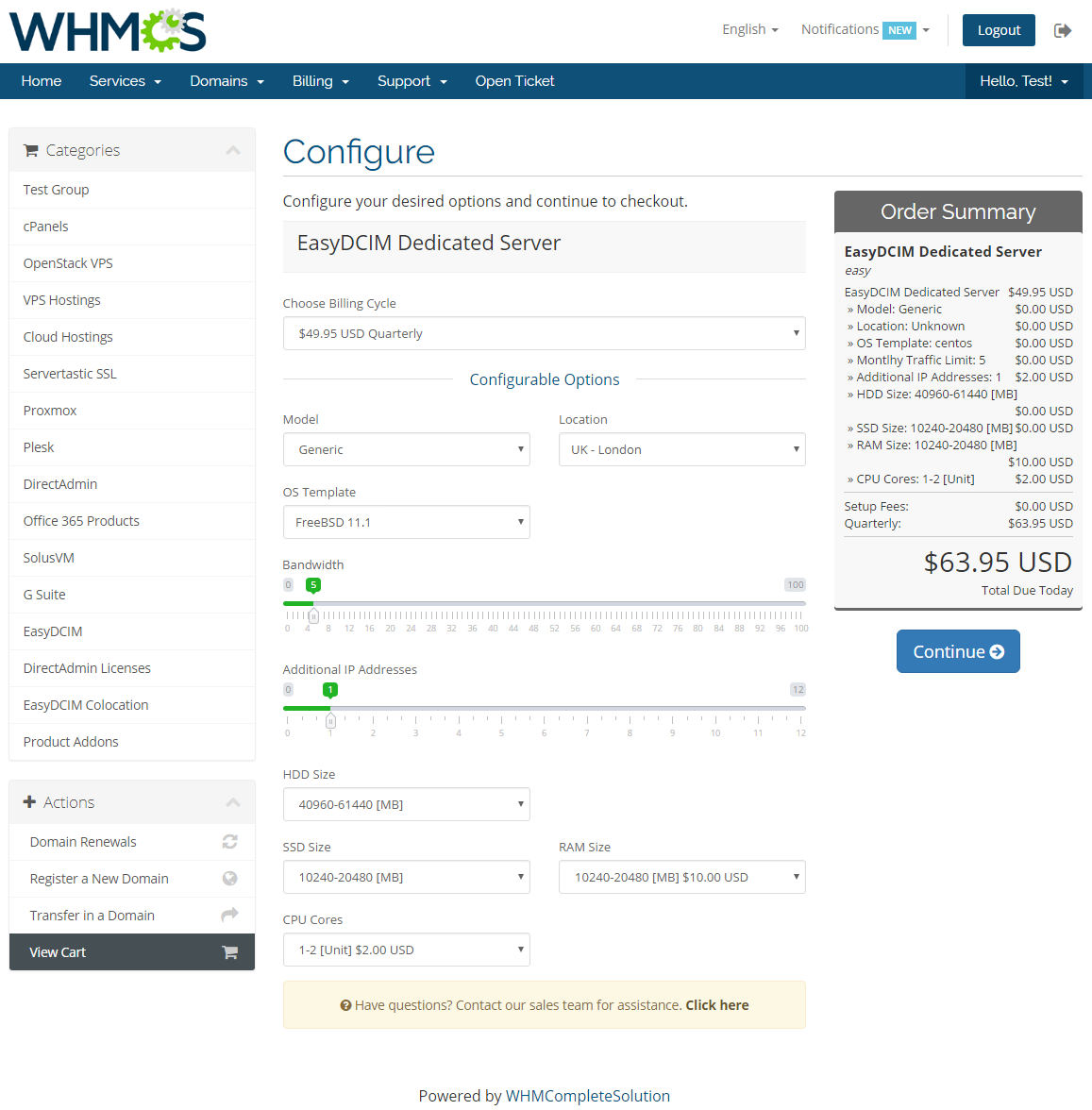 EasyDCIM Dedicated Servers For WHMCS: Screen 8