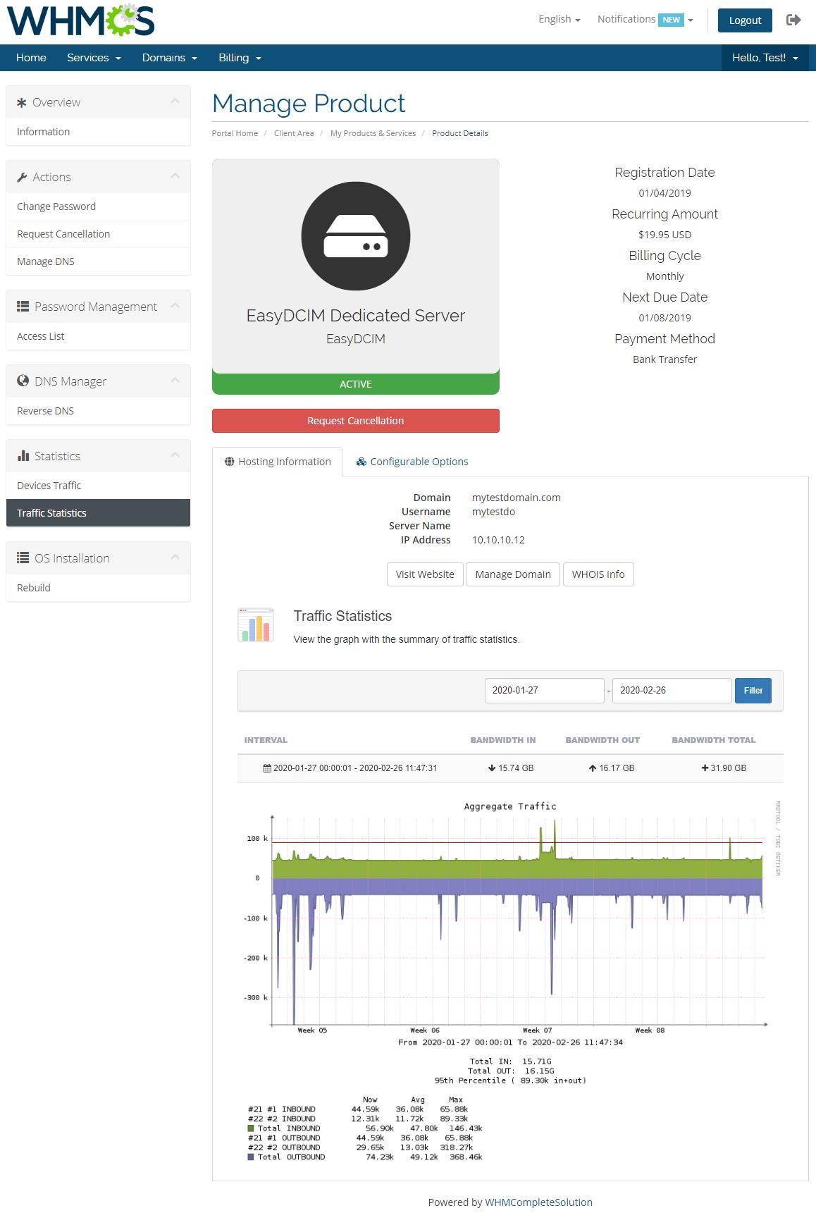 EasyDCIM Dedicated Servers For WHMCS: Module Screenshot 8