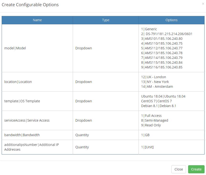 EasyDCIM Dedicated Servers For WHMCS: Module Screenshot 17