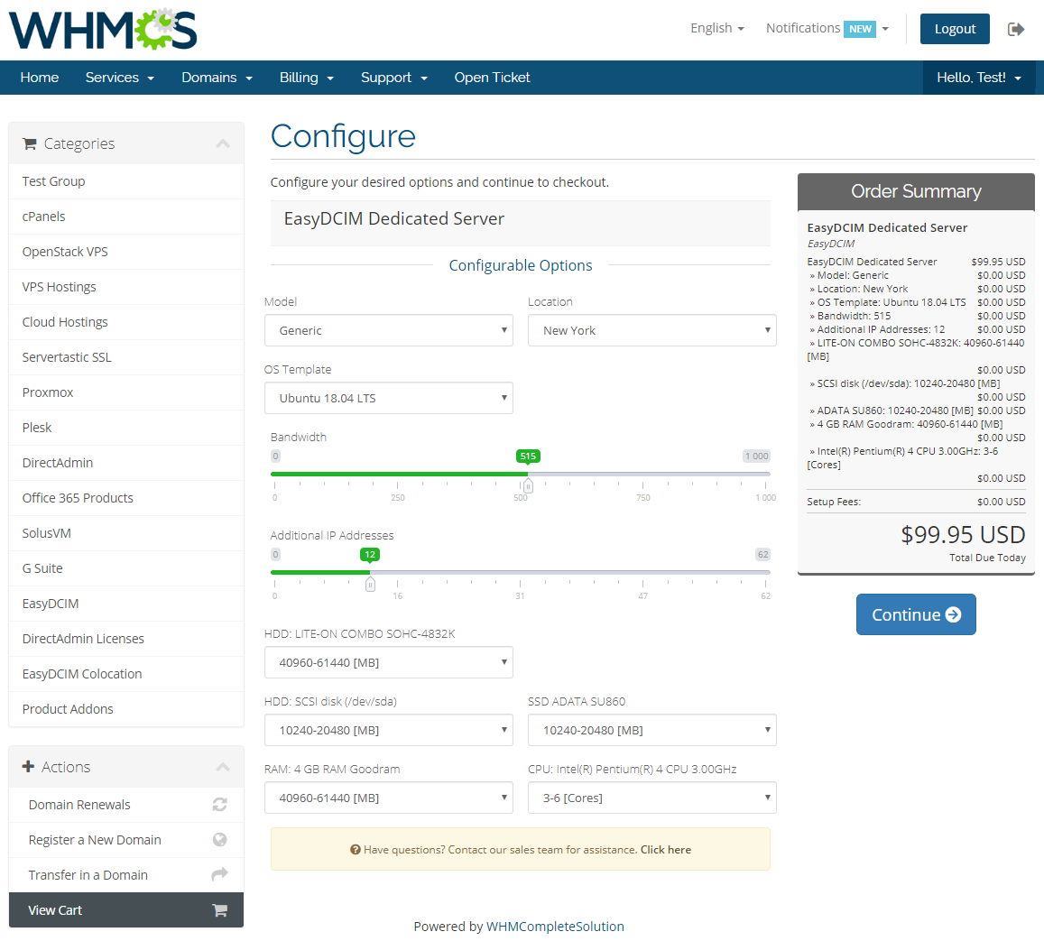 EasyDCIM Dedicated Servers For WHMCS: Module Screenshot 12