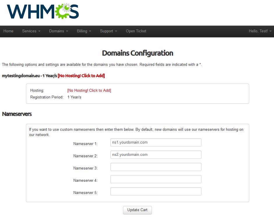 EURid Registrar For WHMCS: Screen 4