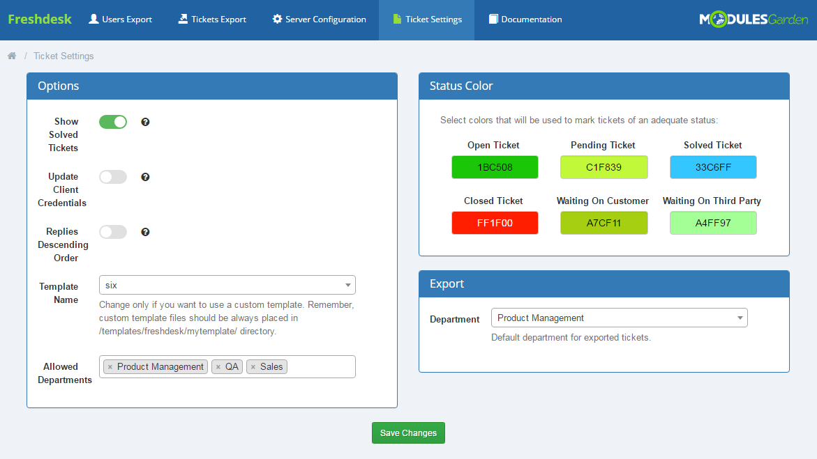 Freshdesk For WHMCS: Screen 7