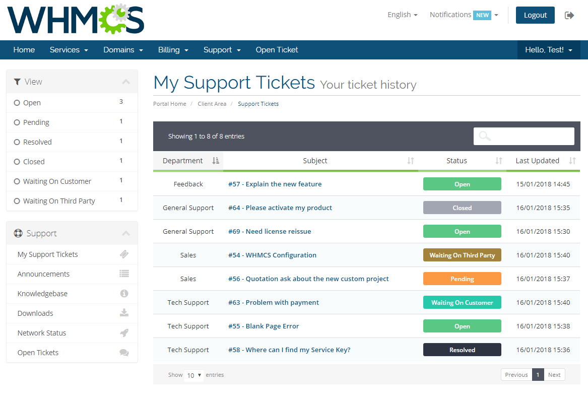 Freshdesk For WHMCS: Screen 2