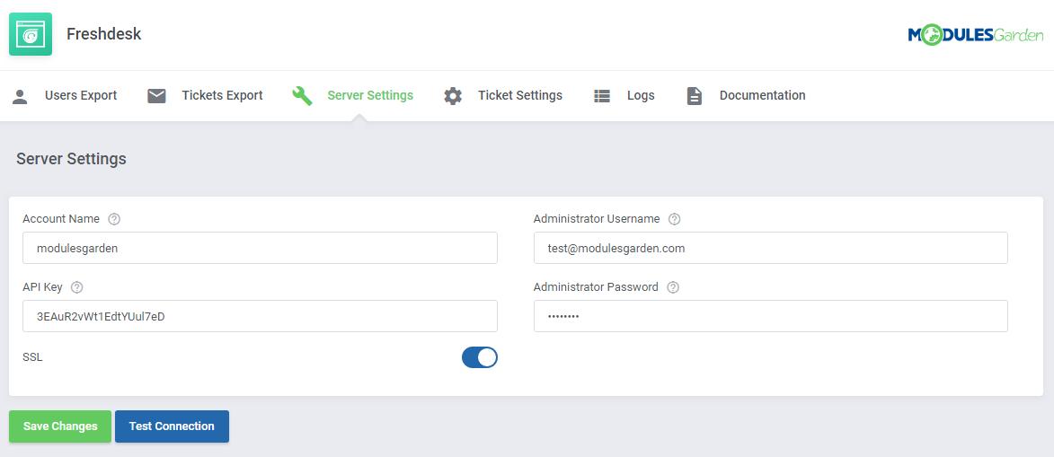 Freshdesk For WHMCS: Screen 7