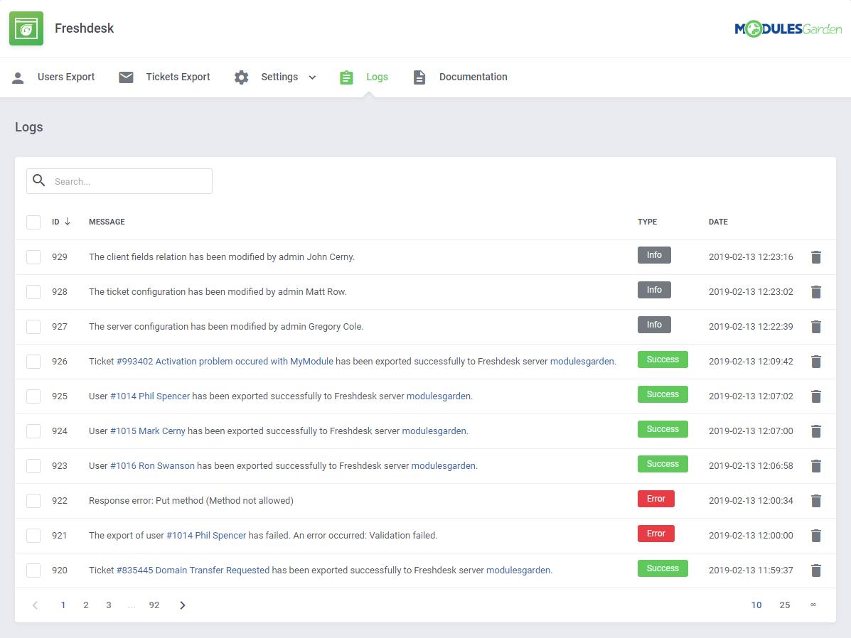 Freshdesk For WHMCS: Module Screenshot 10