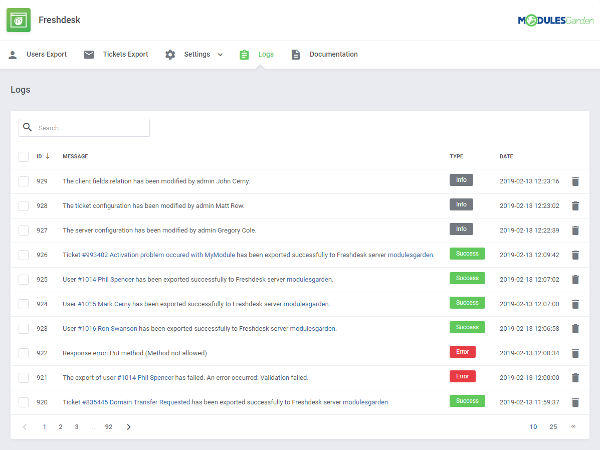 Freshdesk For WHMCS: Module Screenshot 10