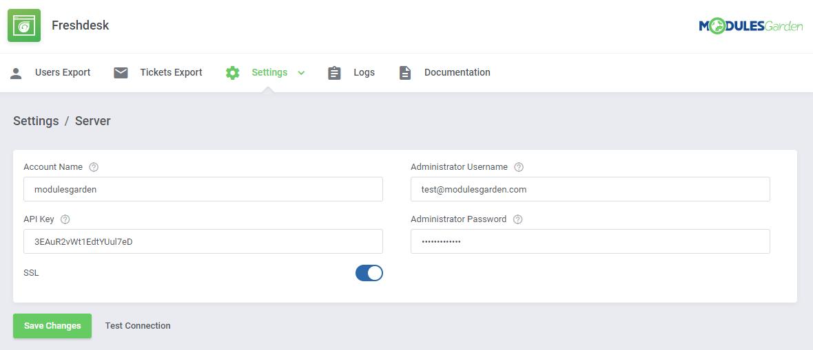 Freshdesk For WHMCS: Module Screenshot 7