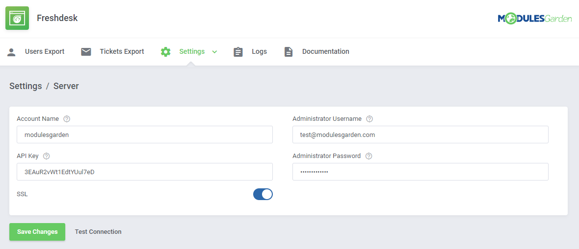 Freshdesk For WHMCS: Module Screenshot 7