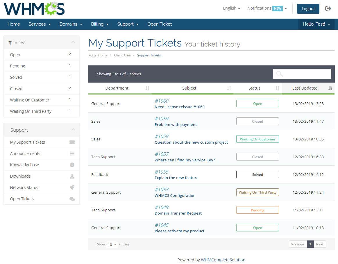 Freshdesk For WHMCS: Module Screenshot 2
