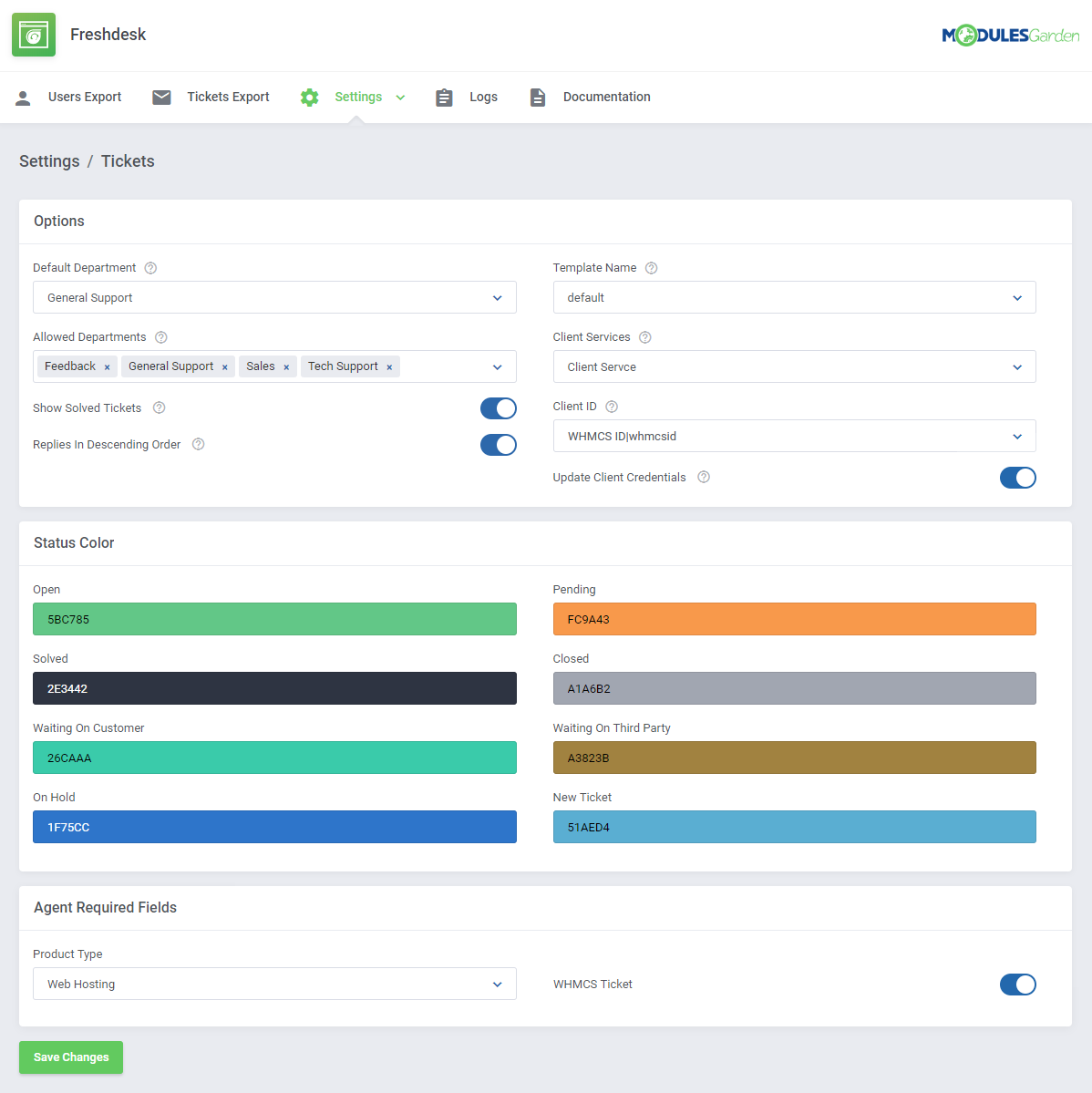 Freshdesk For WHMCS: Module Screenshot 8