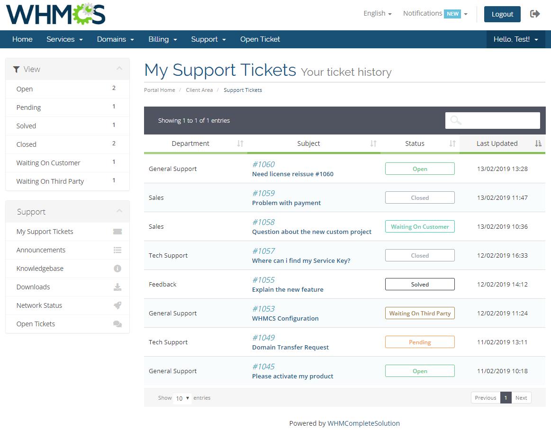 Freshdesk For WHMCS: Module Screenshot 2