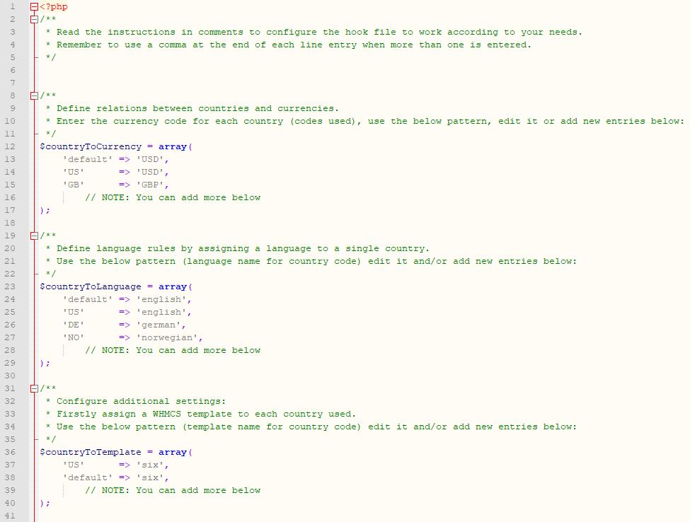 Geolocation Hook For WHMCS: Module Screenshot 1