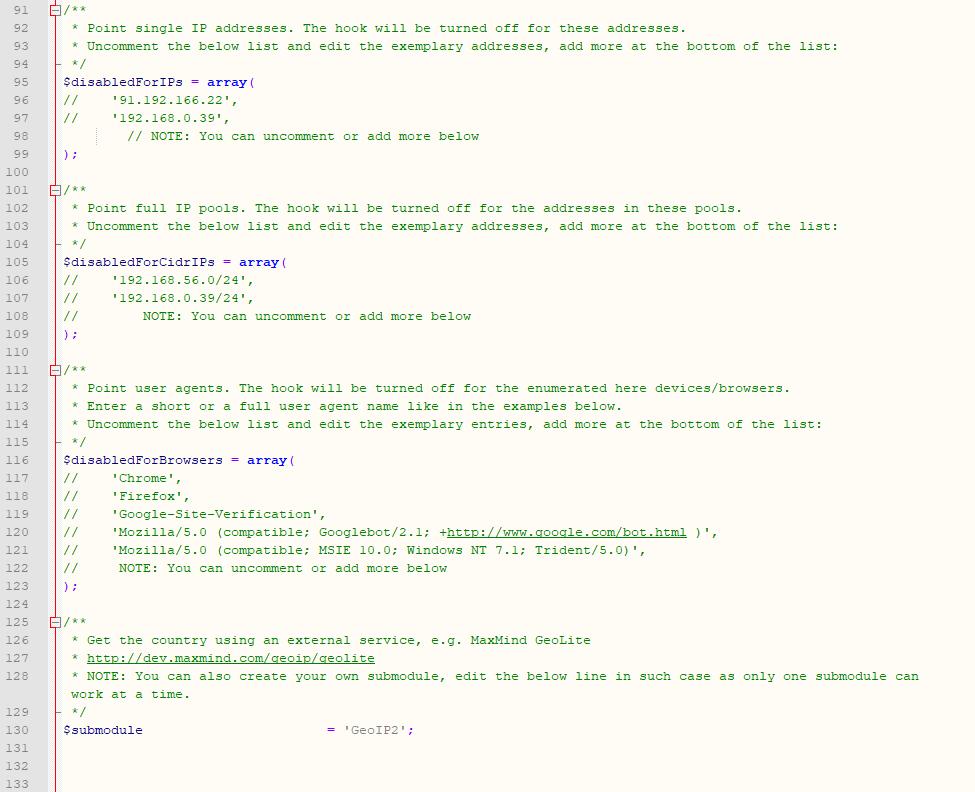 Geolocation Hook For WHMCS: Module Screenshot 3