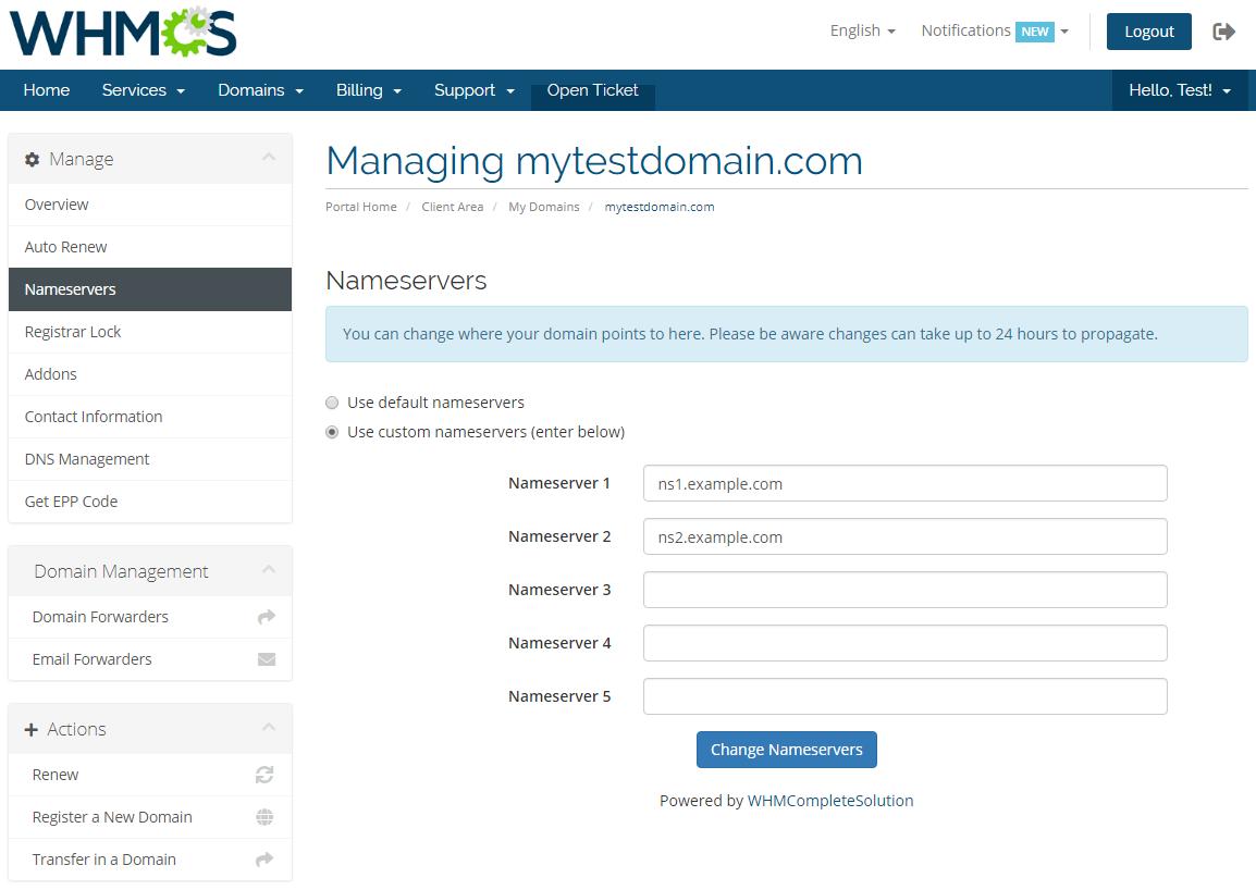 GoDaddy Domain Registrar For WHMCS: Screen 9