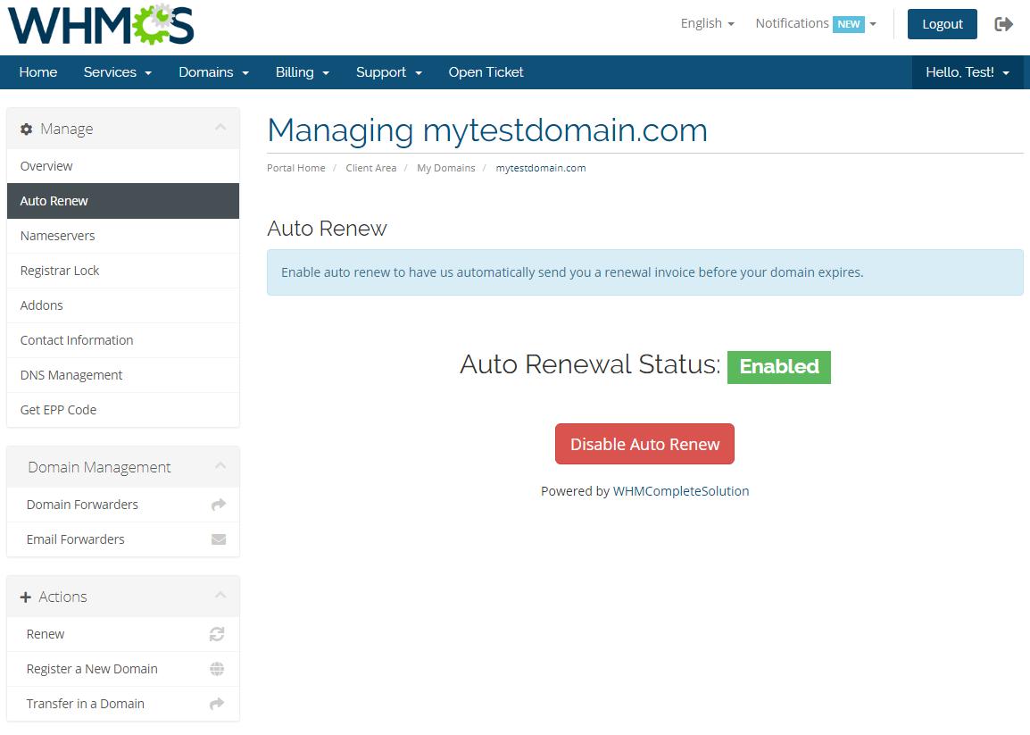 GoDaddy Domain Registrar For WHMCS: Screen 8