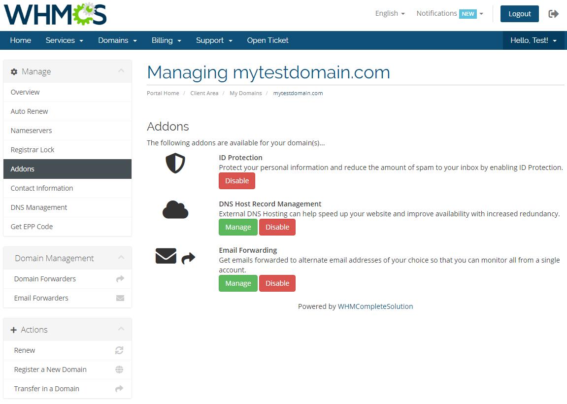 GoDaddy Domain Registrar For WHMCS: Screen 11