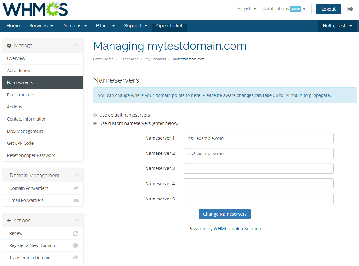 GoDaddy Domain Registrar For WHMCS: Module Screenshot 8
