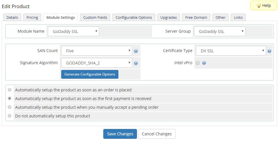 GoDaddy SSL For WHMCS: Screen 6
