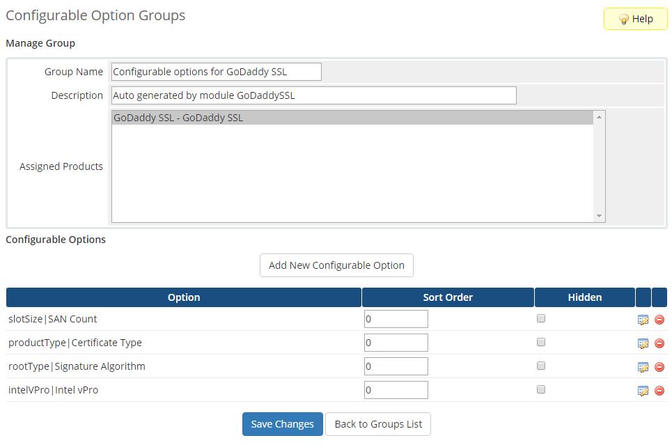 GoDaddy SSL For WHMCS: Screen 7