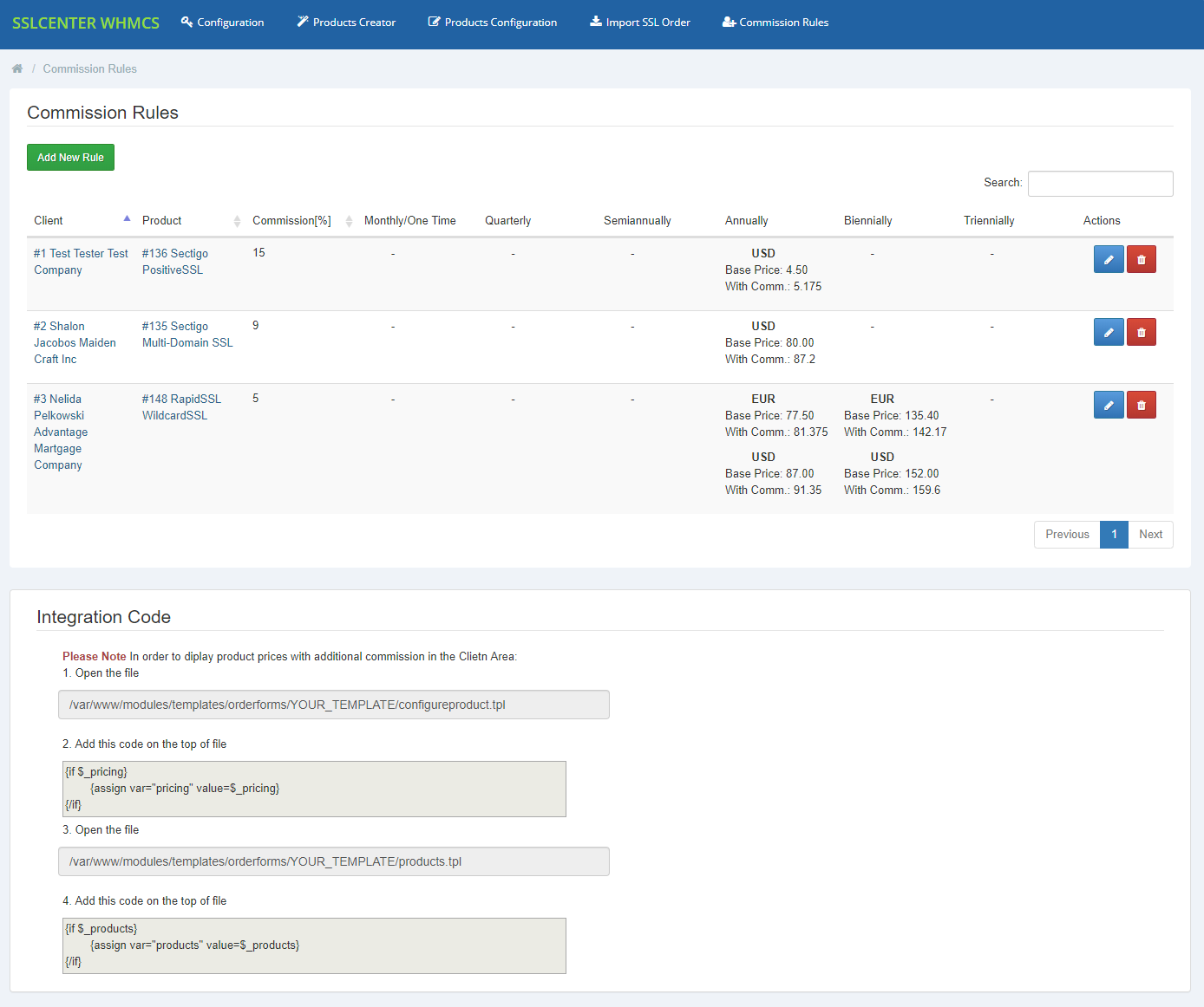 GoGetSSL For WHMCS: Module Screenshot 13