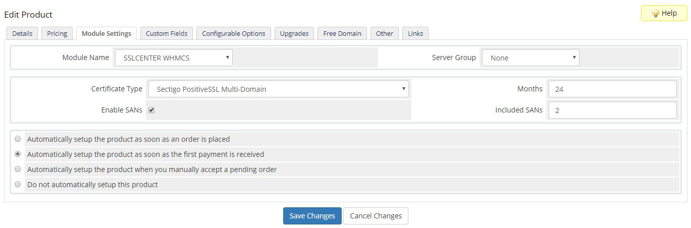 GoGetSSL For WHMCS: Module Screenshot 15