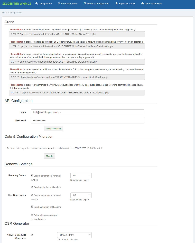 GoGetSSL For WHMCS: Module Screenshot 8