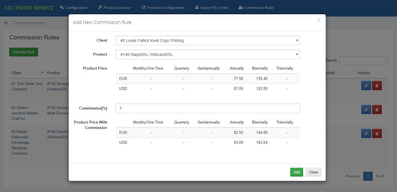 GoGetSSL For WHMCS: Module Screenshot 14