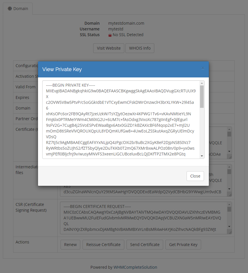 GoGetSSL For WHMCS: Module Screenshot 2