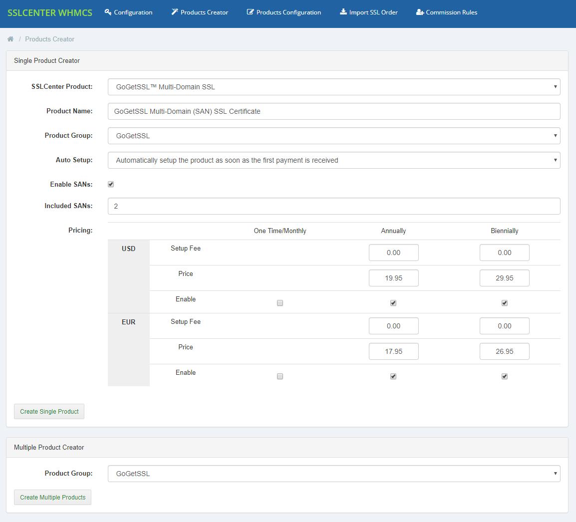 GoGetSSL For WHMCS: Module Screenshot 10