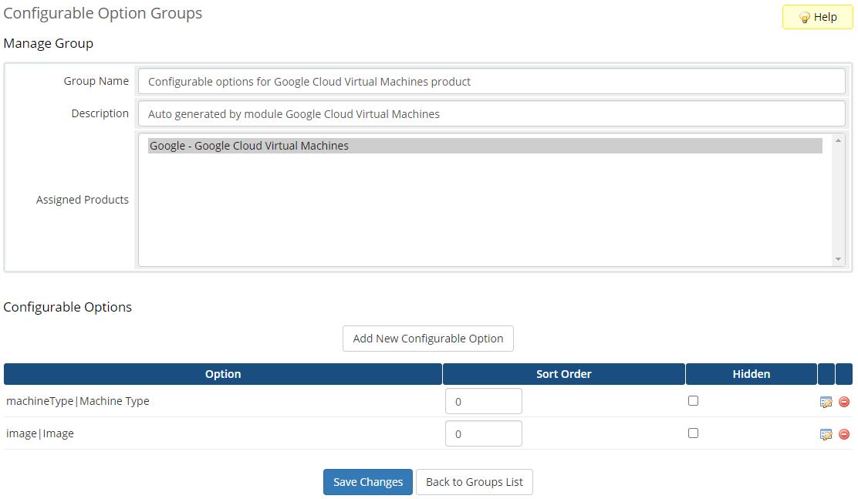 Google Cloud Virtual Machines For WHMCS: Module Screenshot 6