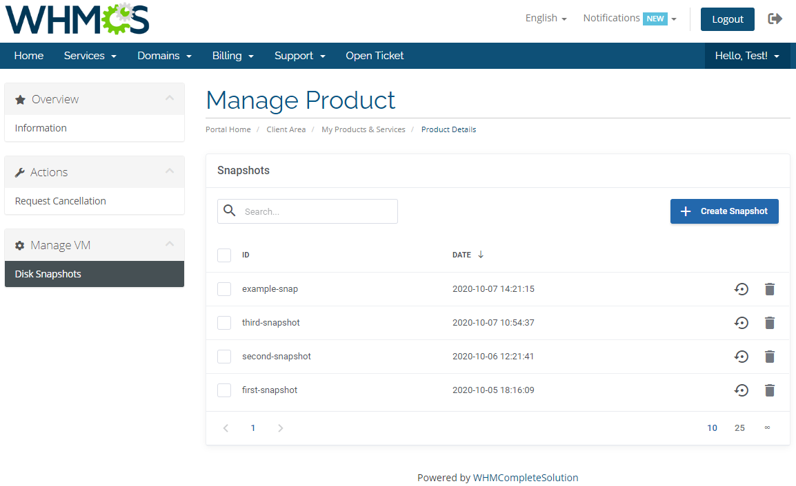 Google Cloud Virtual Machines For WHMCS: Module Screenshot 2